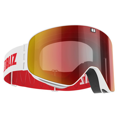 BLIZ FLOW (MATTE WHITE) - Red multi + Yellow lens